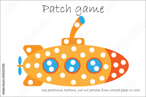 graphic relating to Printable Patches named Training Patch sport submarine for small children towards establish engine