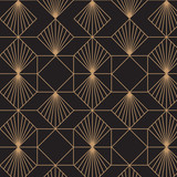 Retro, elegant, art deco, vintage, seamless pattern. - 205336146