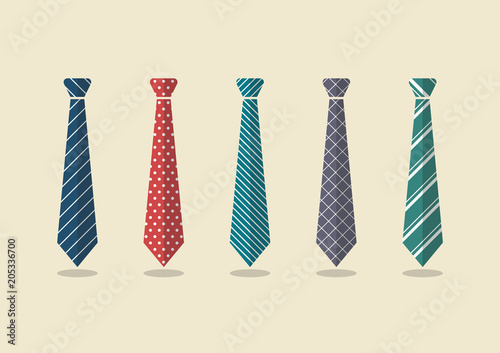 Obraz Set of different ties - fototapety do salonu