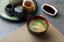 Japanese Miso Soup With Backgr...
