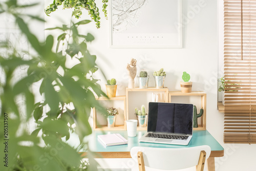 Fotobehang Stof Modern home office interior