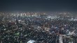 4K Timelapse Sequence of Tokyo, Japan - Shibuya at Night from the Sky Tree Tower Wide Angle
