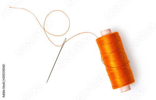 spool of thread with a needle Fototapete