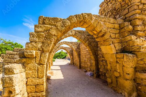 Fotobehang Rudnes Ruins of the ancient city of Caesarea