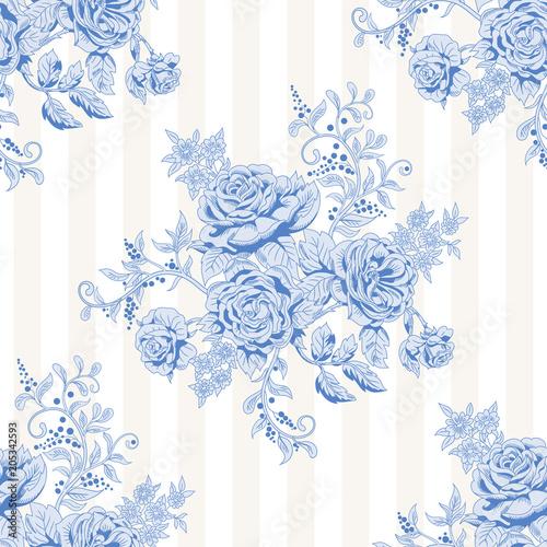 wektorowy-bezszwowy-pasiasty-tlo-z-bukietem-francuskie-roze-zabytkowy-styl