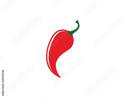 Stampa su Tela Red hot natural chili icon