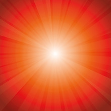 Red Sun Rays Background