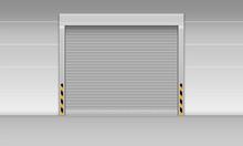 High Speed Rolling Door Of Storage Warehouse, Shutter Door, Vector, Illustration