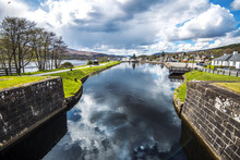 The Double Lock Navigation System At Corpach On Loch Linnhe Near Fort William In The Highlands Of Scotland