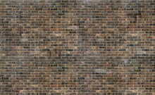 Old Grunge Brown Brick Wall Te...