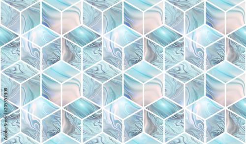 kostki-3d-abstrakcyjny-powtorzony-wzor-z-blekitnymi-i-bezowymi-marmurowymi-teksturami-fantazja-do-tapet-lub-tkanin