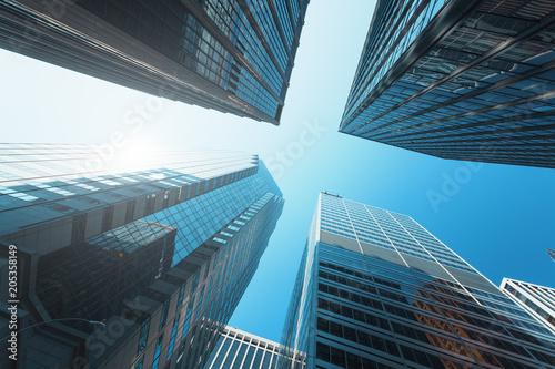 In de dag New York City Modern buildings in New-York