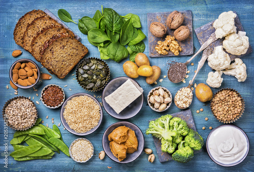 Fotografia  Vegan protein sources