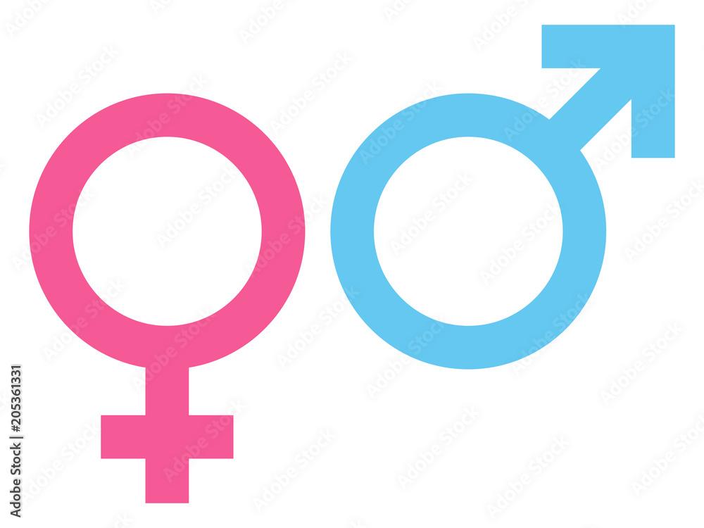 Fototapety, obrazy: Female & Male Icon