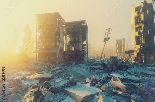 Obraz na plátně Apocalypse city