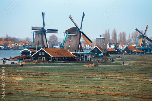 Aluminium Prints Mills wind mills in Zaanse Schans