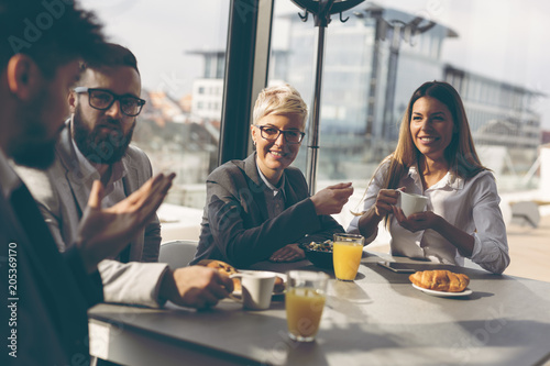Fotografie, Obraz  Business people having breakfast