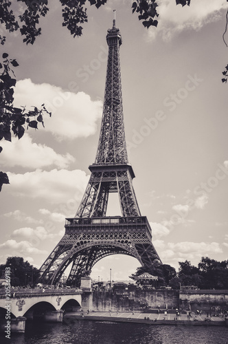 The Eiffel Tower : a Famous Iron Sculpture, Symbol of Paris Poster