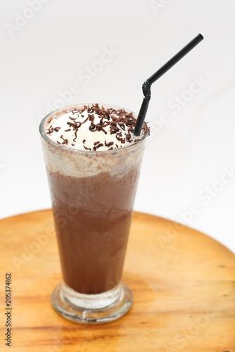 Foto op Aluminium Milkshake milkshake on a wooden table
