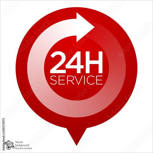 Fényképezés  Emergency Service,24h, 24/7, 365 #Vector Graphics
