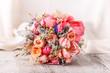 canvas print picture - Bride's beautiful bouquet