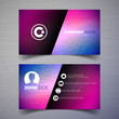 Vector modern business card design template with abstract backgound. Corporate identity illustration with simple logo.