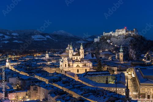 Fototapeta premium Salzburg zima