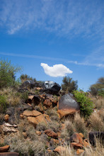 The Rocky Outcrops Of The Free State Near Kimberly, South Africa.