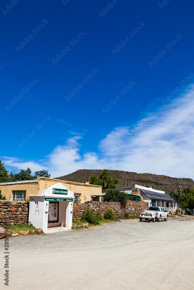 Photo  The town of Nieu Bethesda in the Eastern Cape, is nestled in the mountains of the Karoo, very remote and far away from everything therefore life goes at a very slow pace