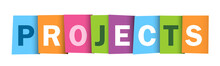 PROJECTS Colourful Letters Icon