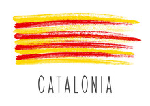 Flag Of Catalonia Isolated On ...