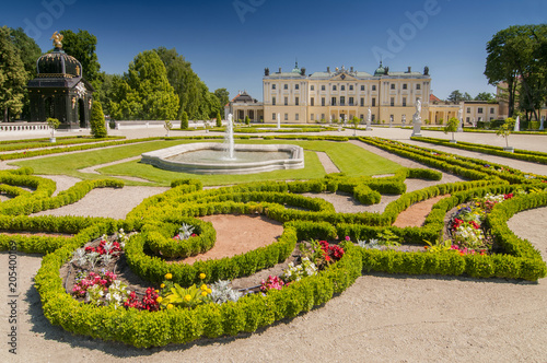 Fototapety, obrazy: Gardens of the palace Branicki, the historic complex is a popular place for locals, Bialystok, Poland.