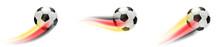 Fußball Mit Deutschland Flagg...