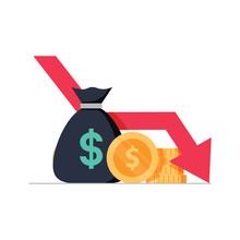 Money Loss Vector Illustration...