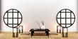 Leinwandbild Motiv interior room design , Japanese style. 3D rendering