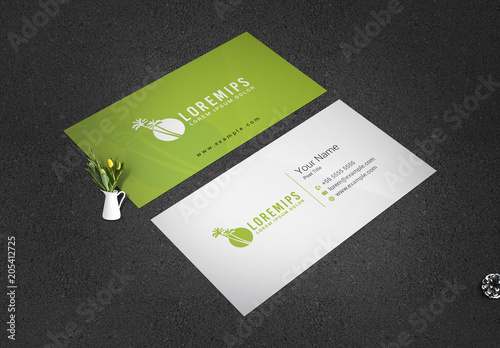 Business card layout with palm tree elements buy this stock business card layout with palm tree elements colourmoves