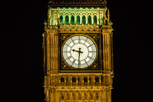 Turm Uhr Detail Licht Nacht Fa...