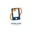 Illustration design of logotype business web marketing.