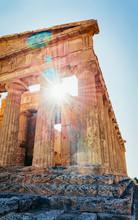Temple Of Concordia In Agrigento Sicily Island