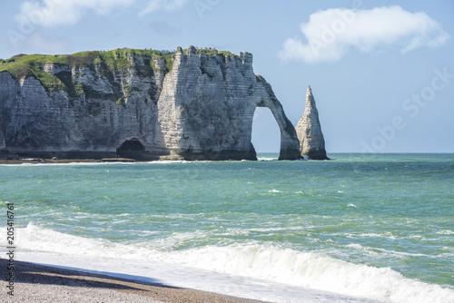 Foto op Aluminium Oceanië Spectacular natural cliffs Aval of Etretat and beautiful famous coastline, Normandy, France, Europe