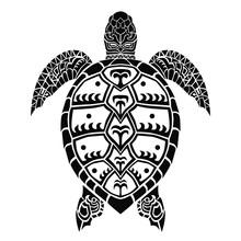 Vector Sea Turtle Tribal Hawai...