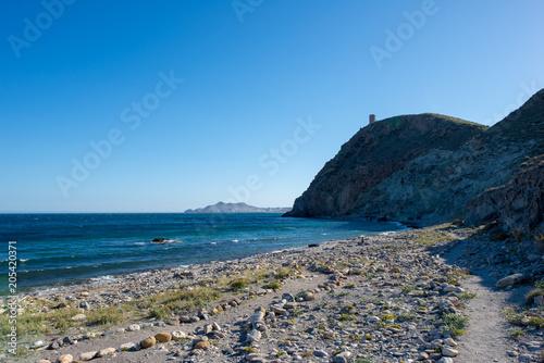 Cadres-photo bureau Palerme Sea and mountain on the coast of Carboneras, Almeria