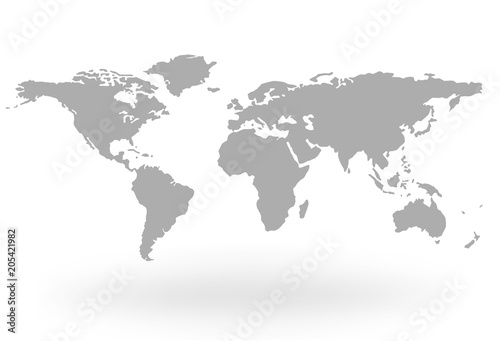 World Map Globe Isolated on white background - stock vector ...