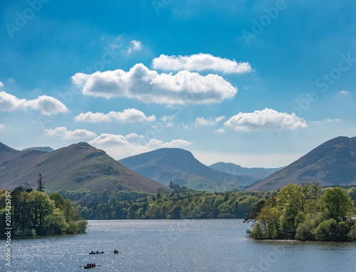 Derwent Water from Hope Park in Keswick, Cumbria Fototapet