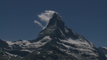 Time Lapse Clouds Stream From Summit Of The Matterhorn