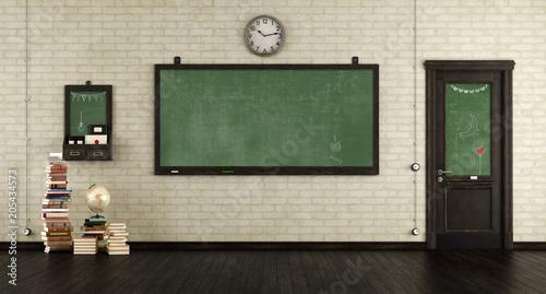 Fotografía  Empty retro classroom
