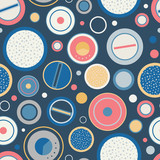 Vector Vintage Speakers Dials Seamless Pattern Background - 205436929