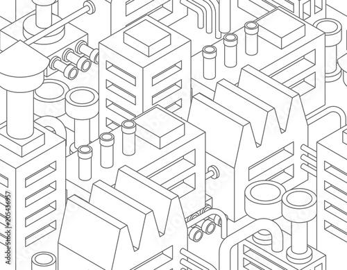 wzor-przemyslowy-roslin-bez-szwu-manufaktura-tekstura-fabryczne-tlo-ilustracji-wektorowych