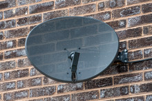 TV Satellite Dish Mounted On A...