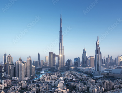 Dubai skyline, United Arab Emirates Wallpaper Mural